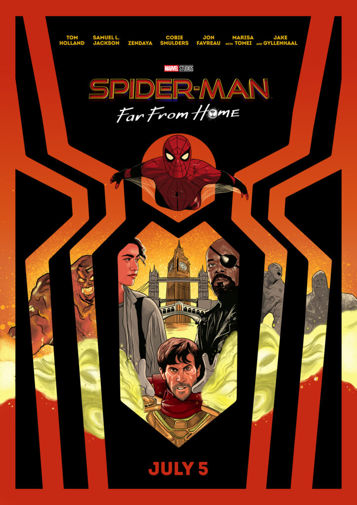 Spider Far From Home Illustrated Movie Poster RJ Artworks