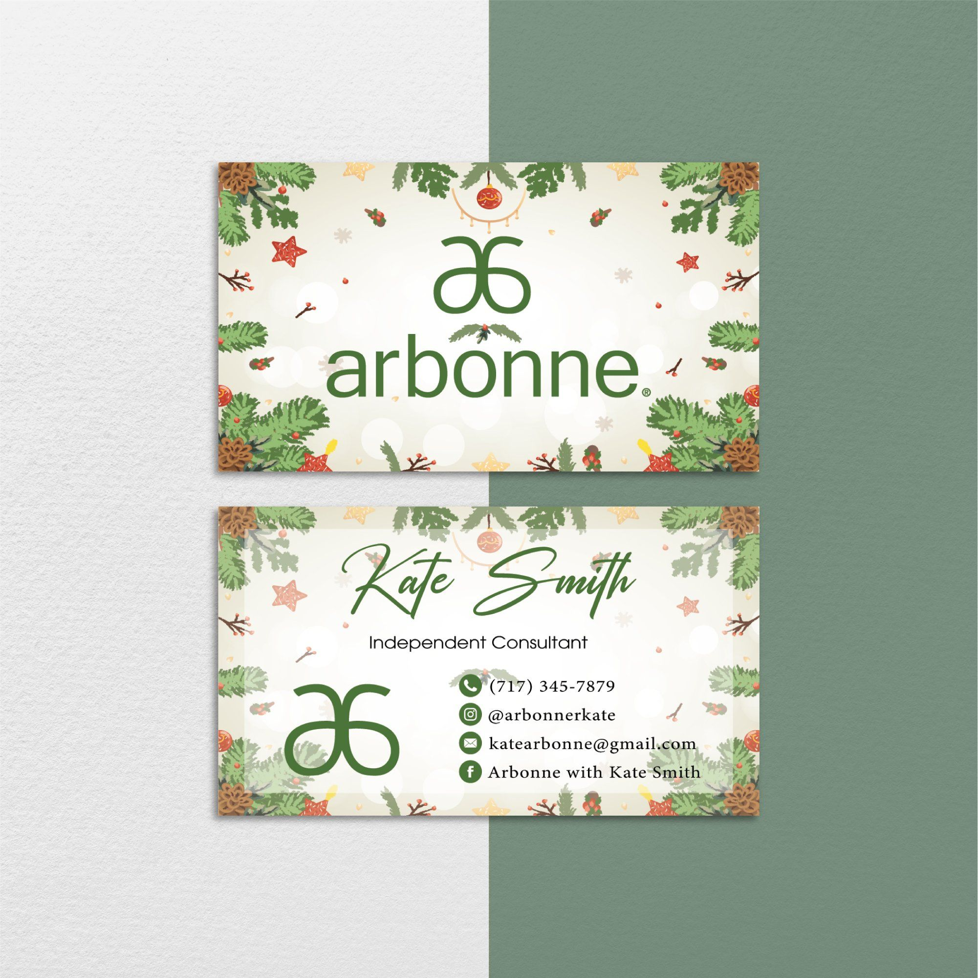 Christmas Arbonne Business Cards Christmas Personalized Arbonne Cards Ab144 Arbonne Business Cards Personalized Christmas Card Design
