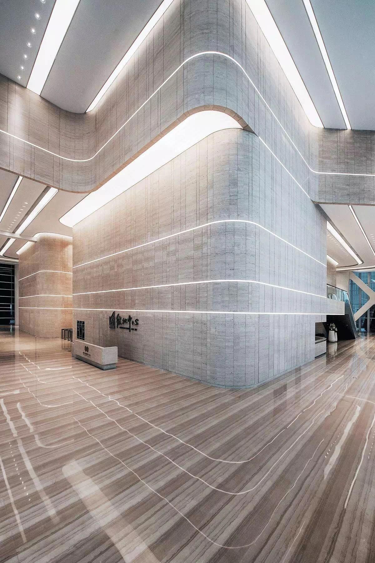 Room Lighting Design Software: The Linear Light On The Wall Is Reflecting On The Floor