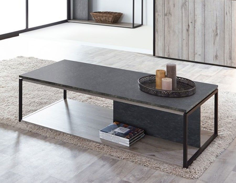 Table Basse Industrielle Couleur Chene Gris Et Marbre Nera Table Basse Table Basse Contemporaine Table Basse Industrielle