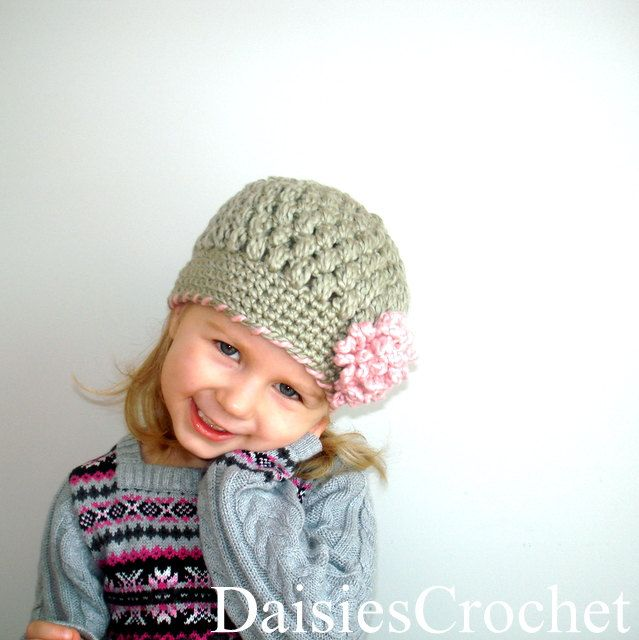 Girl Beanie Hat Organic Cotton- Grey Pink. Size 3 or 4 Photography ...