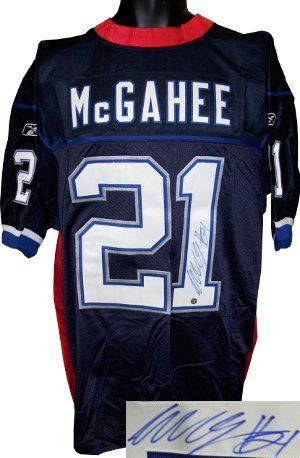 Willis McGahee signed Buffalo Bills Reebok Authentic Blue Jersey . $159.03. The Buffalo Bills drafted Willis McGahee as the 23rd overall selection of the 2003 NFL Draft. During the 2004 season, McGahee rushed for over 1,100 yards, and scored thirteen touchdowns, the fourth most in the league. He rushed for a career high 1,247 yards the following season. Willis McGahee has hand autographed this Buffalo Bills Reebok Authentic Jersey. APE Hologram and Certificate of Authenticity.