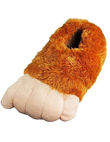 29aabf0cf35d Wishpets Brown Grizzly Bear Paw Slippers   Unbelievable product right here!    Sandals