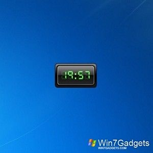 Cx Digital Clock Win 7 Gadget In 2020 Clock Digital Clocks Digital