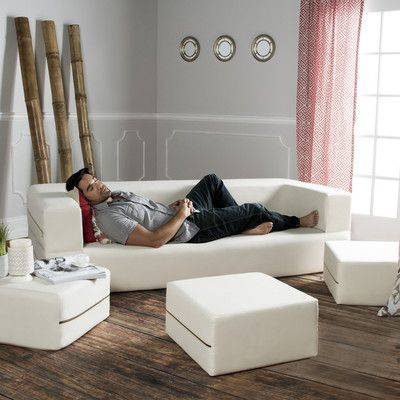 Zipline Convertible Sleeper Sofa with Ottomans, #Sofas, #JAX1384_15132022