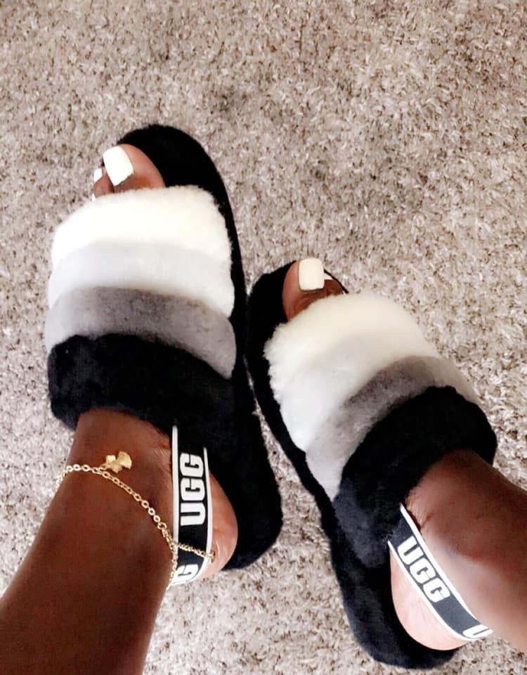 4f895acb360 Fluff Yeah Slide in 2019 | WISHLIST☺️ | Shoes, Ugg sandals, Black ...