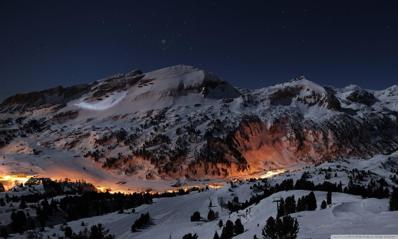 Hd wallpaper wide - Beautiful Night Winter Hd Desktop Wallpaper Widescreen High