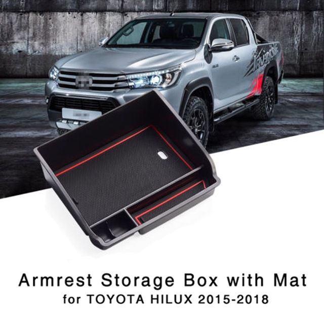 For Ford Ranger 2012-2018 Center Console Storage Box Armrest Phone Bin Tray