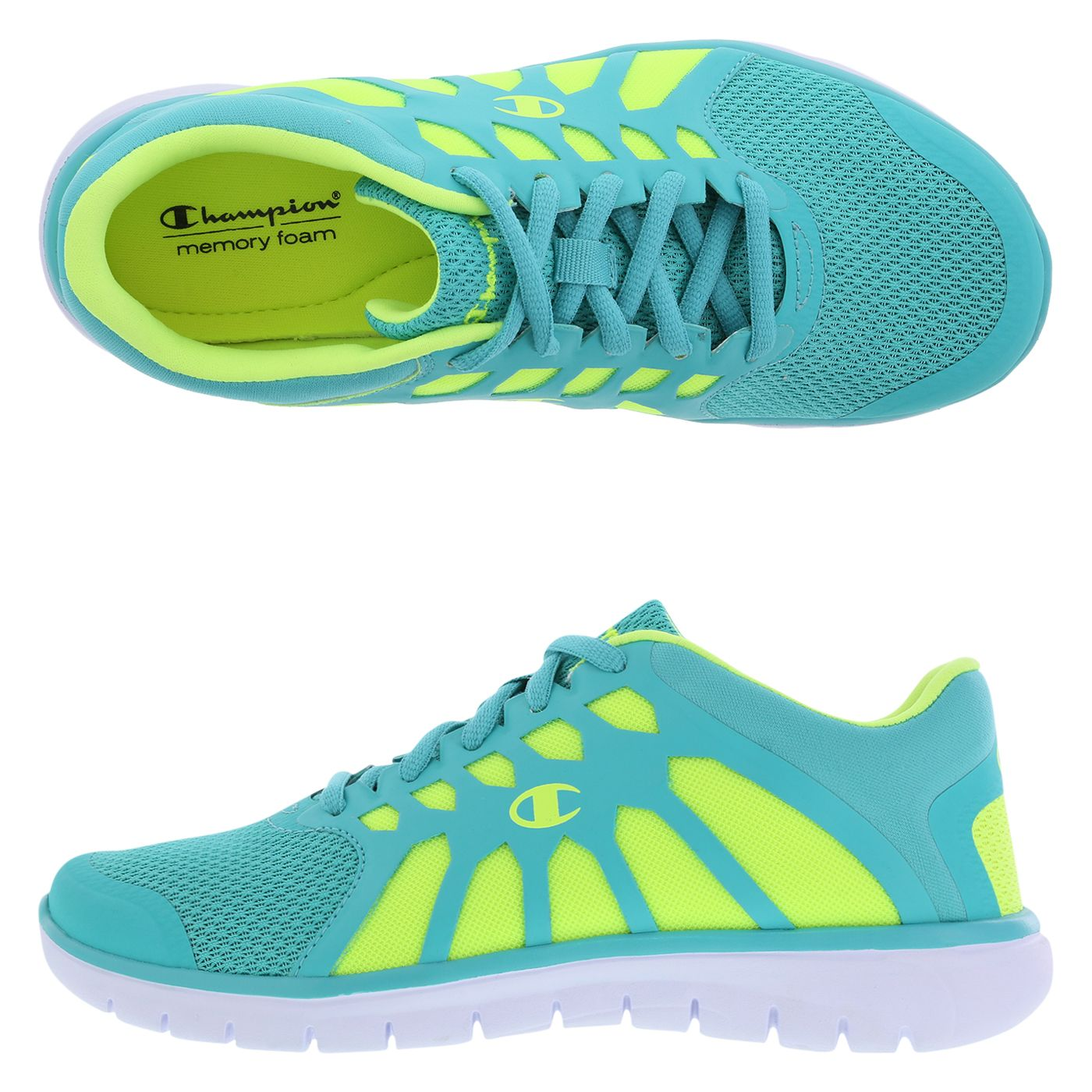 fe5308811c50c Lighten up your athletic wardrobe with the bright turquoise and lime Gusto  Cut-Out Runner.