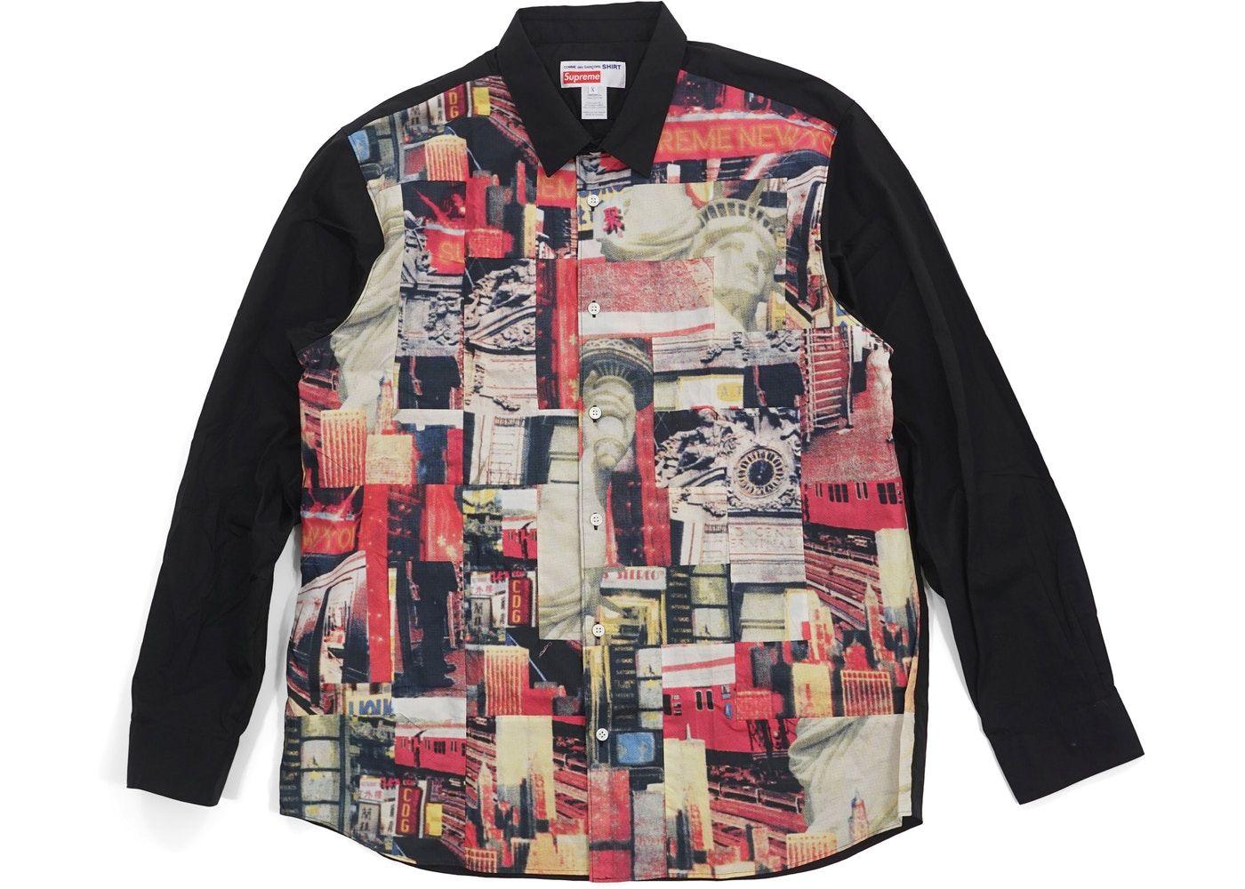 Supreme Comme Des Garcons Shirt Patchwork Button Up Shirt Multicolor Comme Des Garcons Shirt Button Up Shirts Comme Des Garcons [ 1000 x 1400 Pixel ]