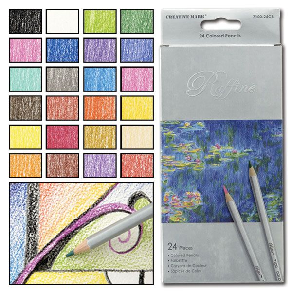 I have two sets of the Raffine pencils - the colored pencils and the watercolor pencils. Smooth coverage, sharpens up great and lots of different color shades compared to the other brands that have 24 sets.  Raffiné Colored Pencil Sets - JerrysArtarama.com