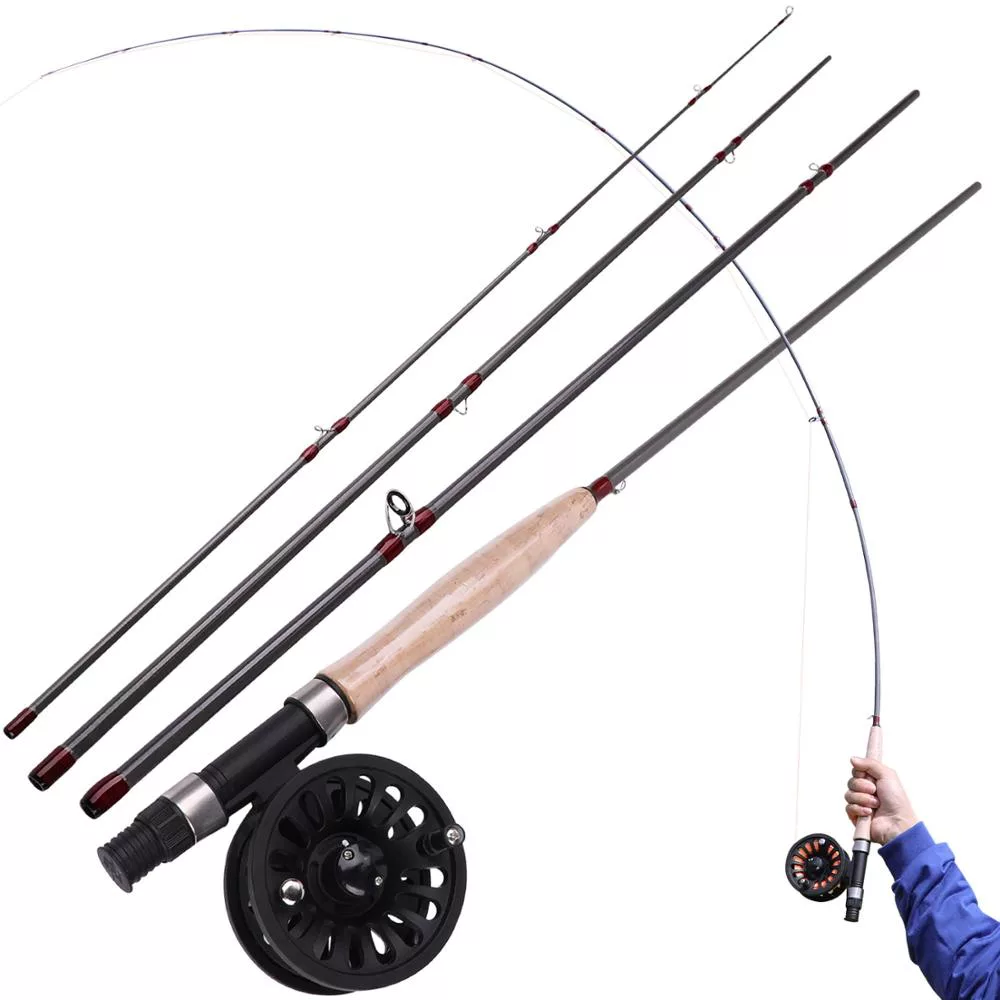 4 Section Fly Fishing Rod 2 7m Fly Fishing Rods Fly Fishing Fishing Rod