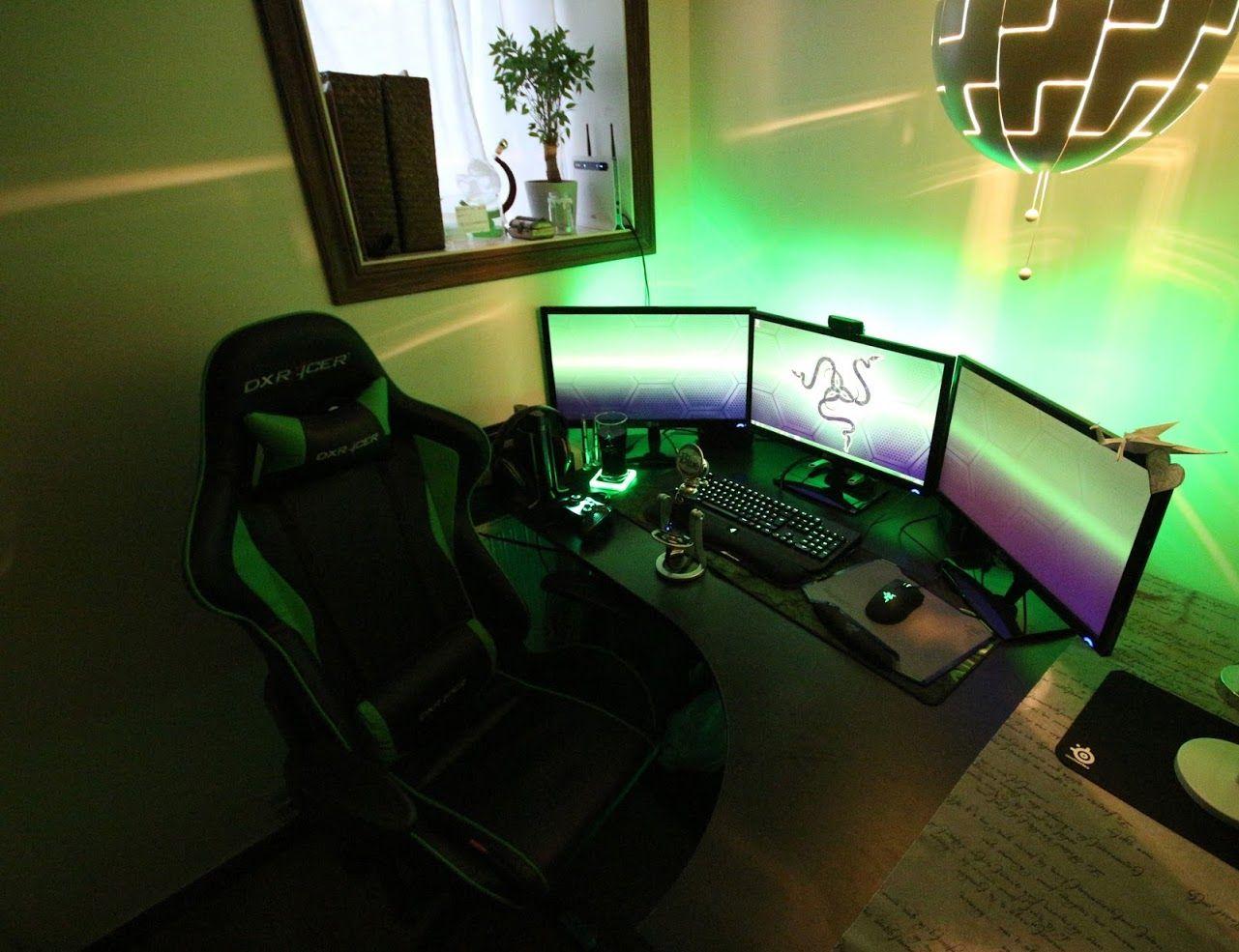 Beautiful setup with Razor Theme Razer blackwidow, Pc