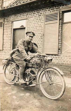 Army Service Corps Douglas Motor Cycle In France Ww1 Military Motorcycle Vintage Motorcycles Old Motorcycles