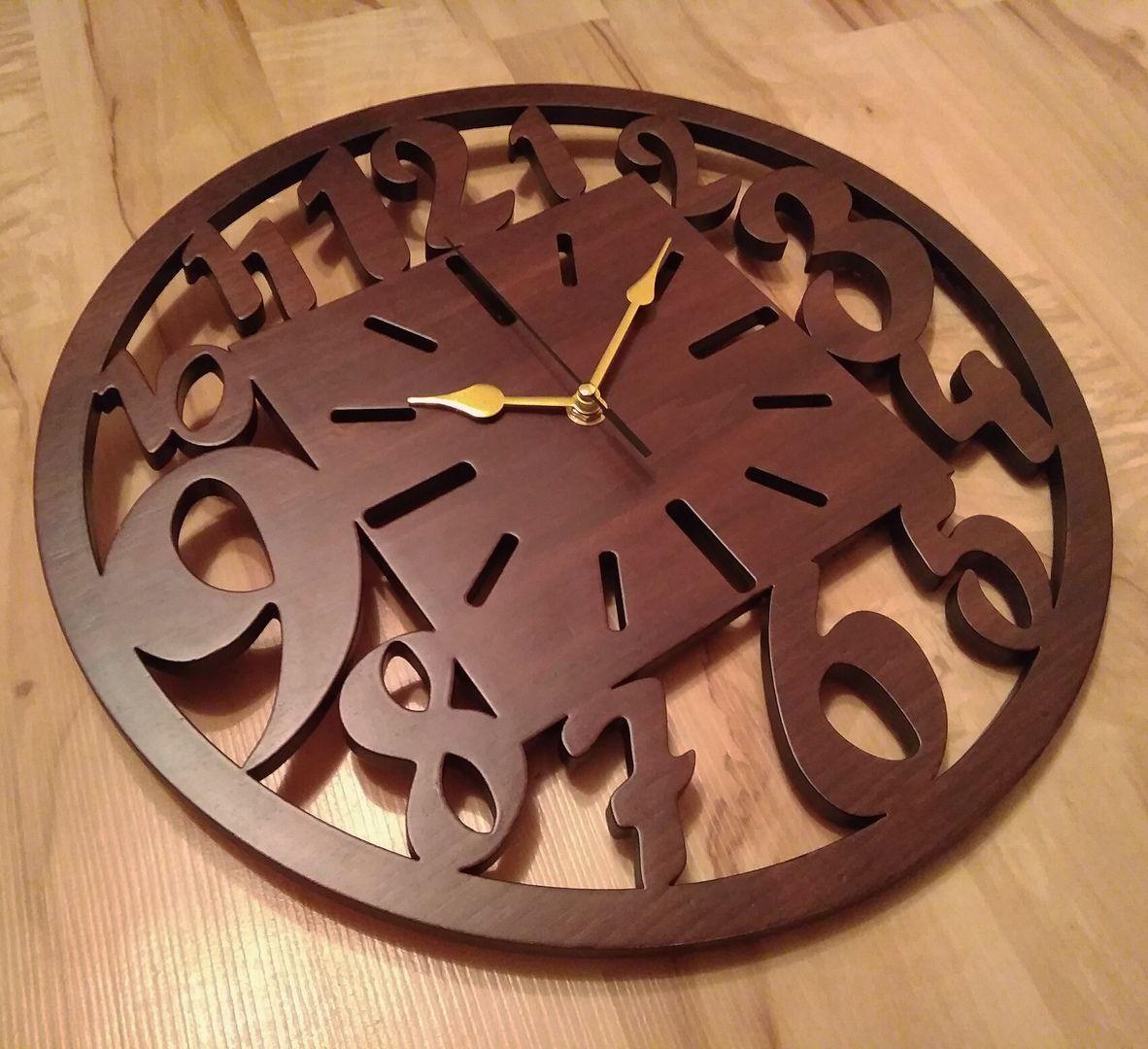 Wooden clock vector free download Деревянные часы