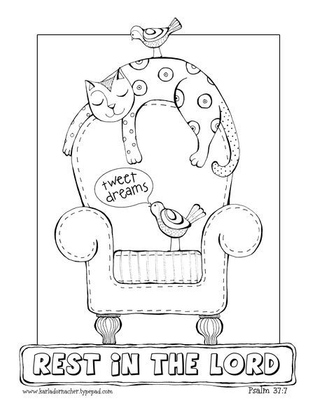 Free Rest In The Lord Color Page Bible Coloring Pages