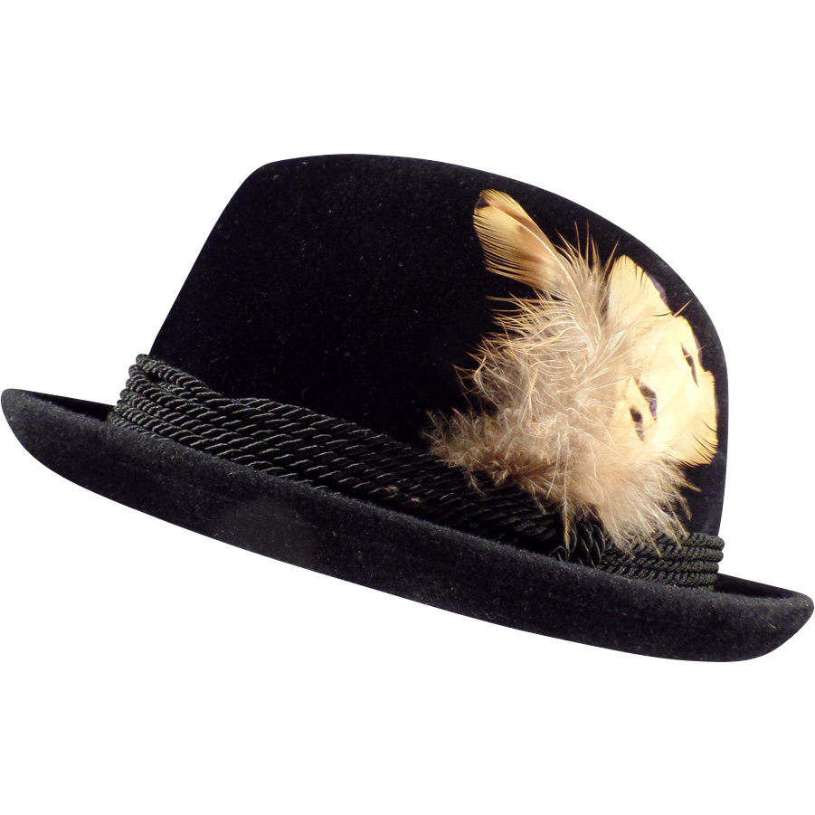 347444b407b7ba Style...is it a thing of the past? Gentleman's Old, Black, Stetson Royal De  Luxe, Fedora Hat from ogees on Ruby Lane
