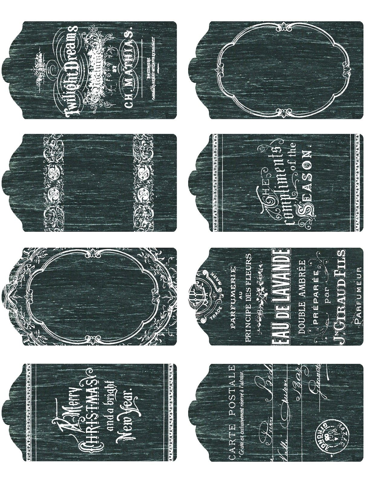 graphic regarding Small Printable Labels named No cost printable ~ 8 tiny, thorough chalkboard tags