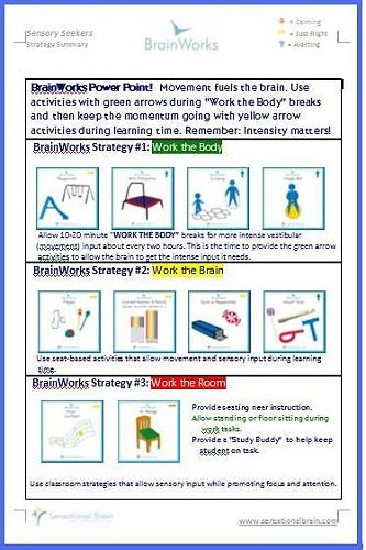 Classroom Ideas For Sensory Integration : A sensory diet is plan to balance and develop