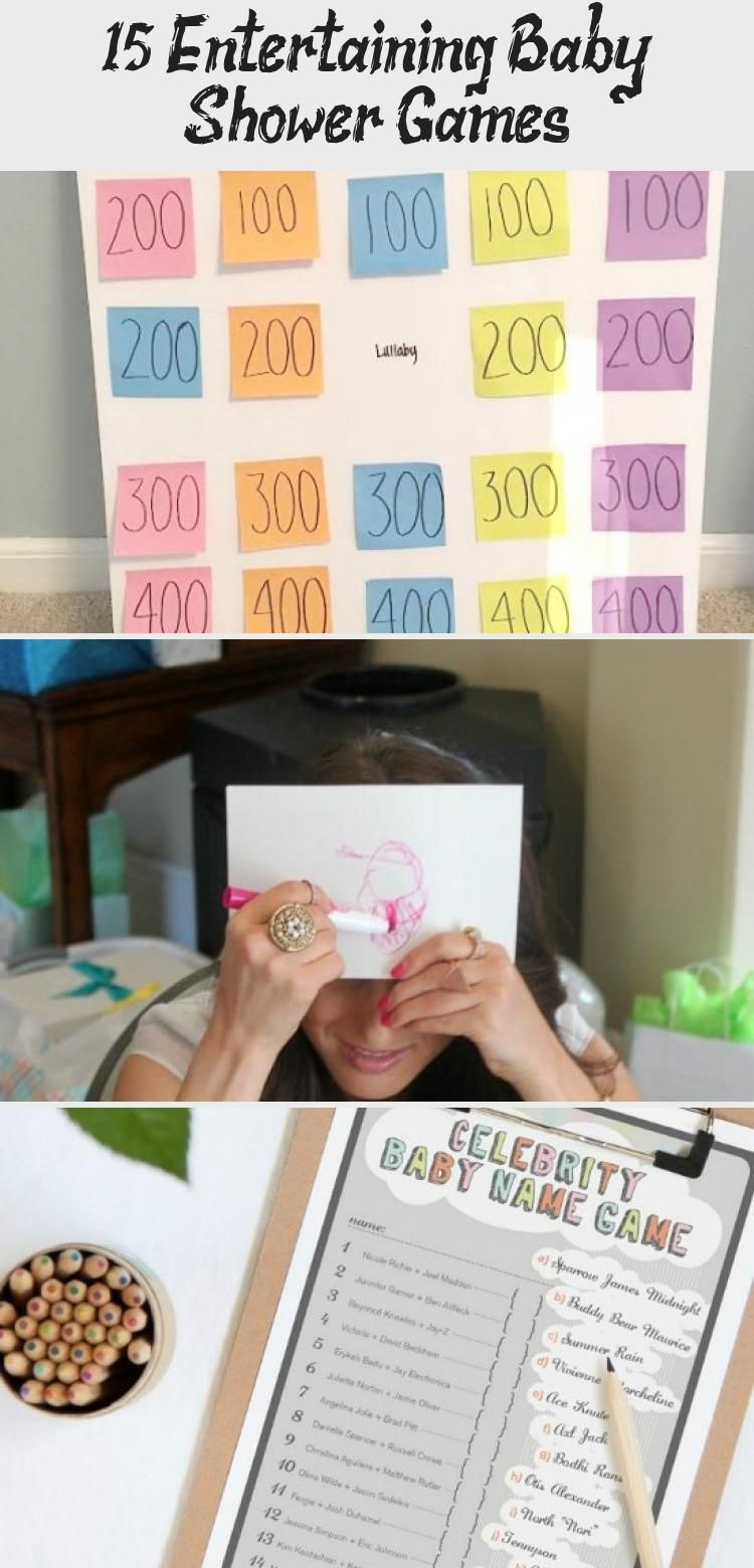 15 Entertaining Baby Shower Games in 2020 Baby shower