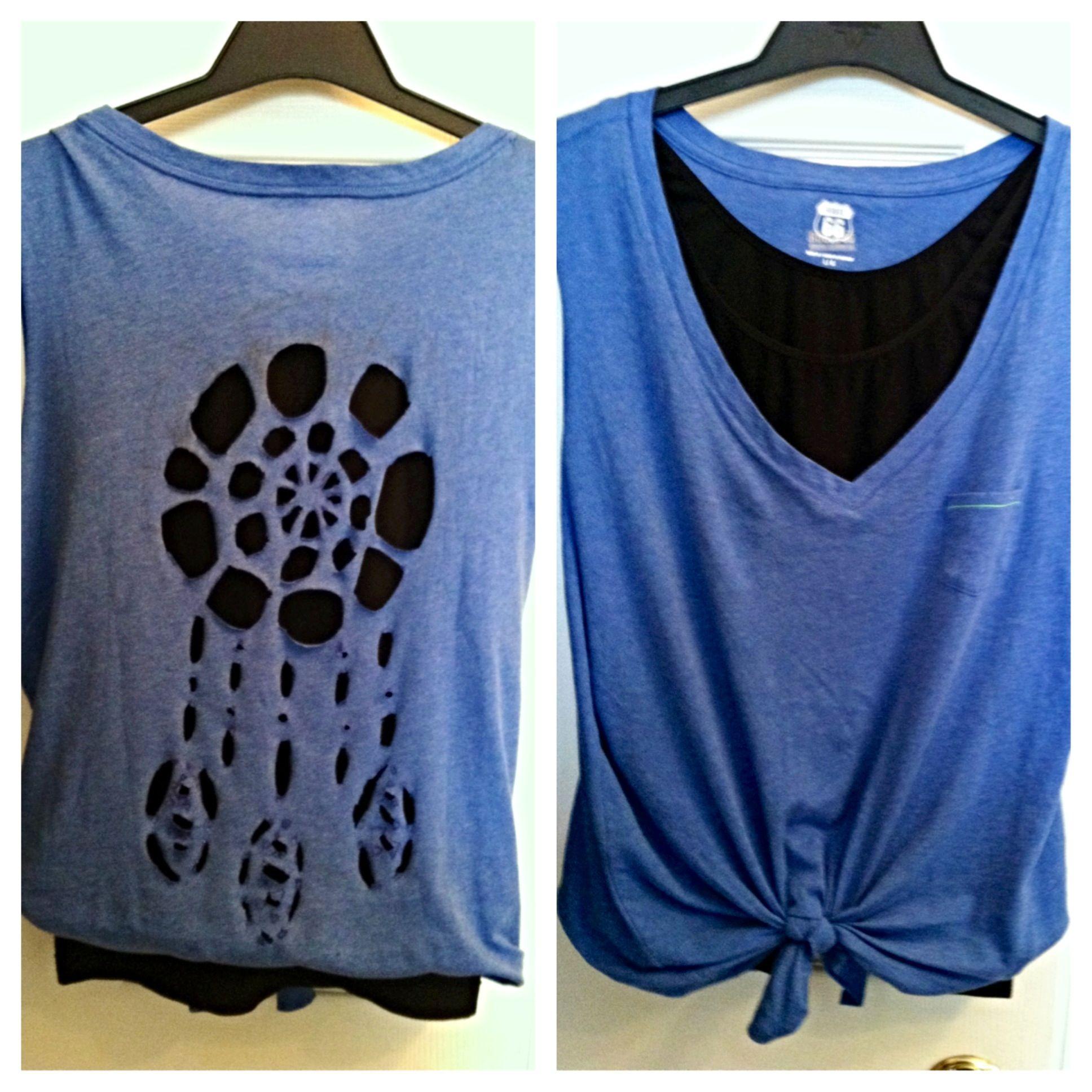 Diy Dreamcatcher Cut Out Shirt Make For Hannahs 21st Fashion