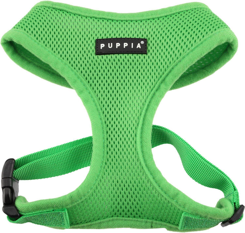 Puppia Soft Dog Harness A, Green, Medium Dog