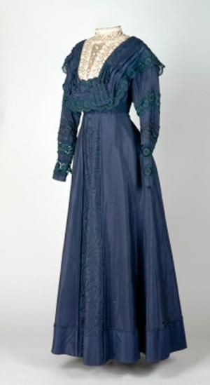 Dress, circa 1910-1920. Cotton and silk. Via Leeds Museum. by shauna #edwardianperiod