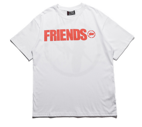 222424f9c Vlone x Fragment Friends T-Shirt. Colors: White/Black Sizes: M-XL Need  support? let us know anytime here or via website.