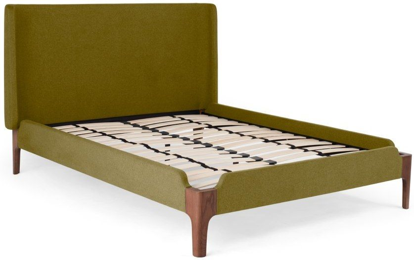 Made Olive Green Upholstered Beds In 2019 Green Bedding Double