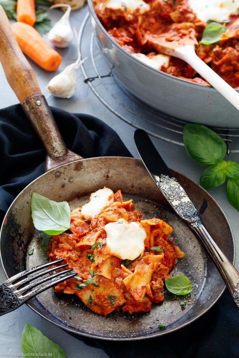 schnelle pfannen lasagne mit trick béchamel