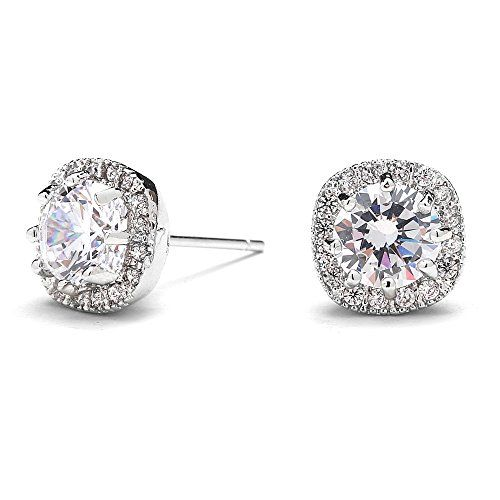 Sterling Silver Dancing Double Love Knot Leverback Earrings Made with Swarovski Zirconia