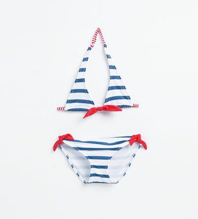 db0fd37138f7 Bikini rayas-BAÑADORES Y BIKINIS-NIÑA | 4-14 años-NIÑOS | ZARA ...