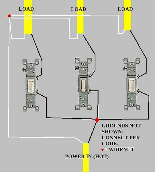 Wiring Diagram For Light With 3 Switches : Gang light switch wiring diagram somurich