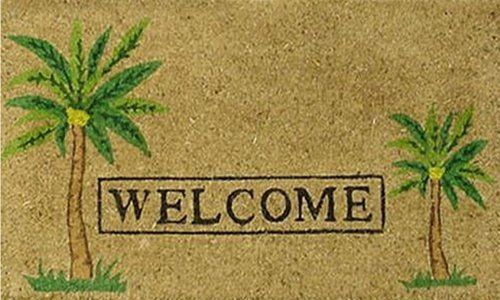 """Palm Welcome 17""""x29"""" Coir with Vinyl Backing by Momentum Mats. $19.99. Traps Dirt and Moisture. Fade Resistant, Color Fast and Weather Tolerant. 100% Natural Coir with Vinyl Backing for Long-Lasting Wear and Durability. In Stock - Ships in 1-2 days. Makes a Great Gift - Free Gift Enclosure. Momentum Mats has been a trusted manufacturer for 28 years and we take great pride in the fact that we use only 100% natural coir and vinyl in our doormats.  Our manufacturing..."""