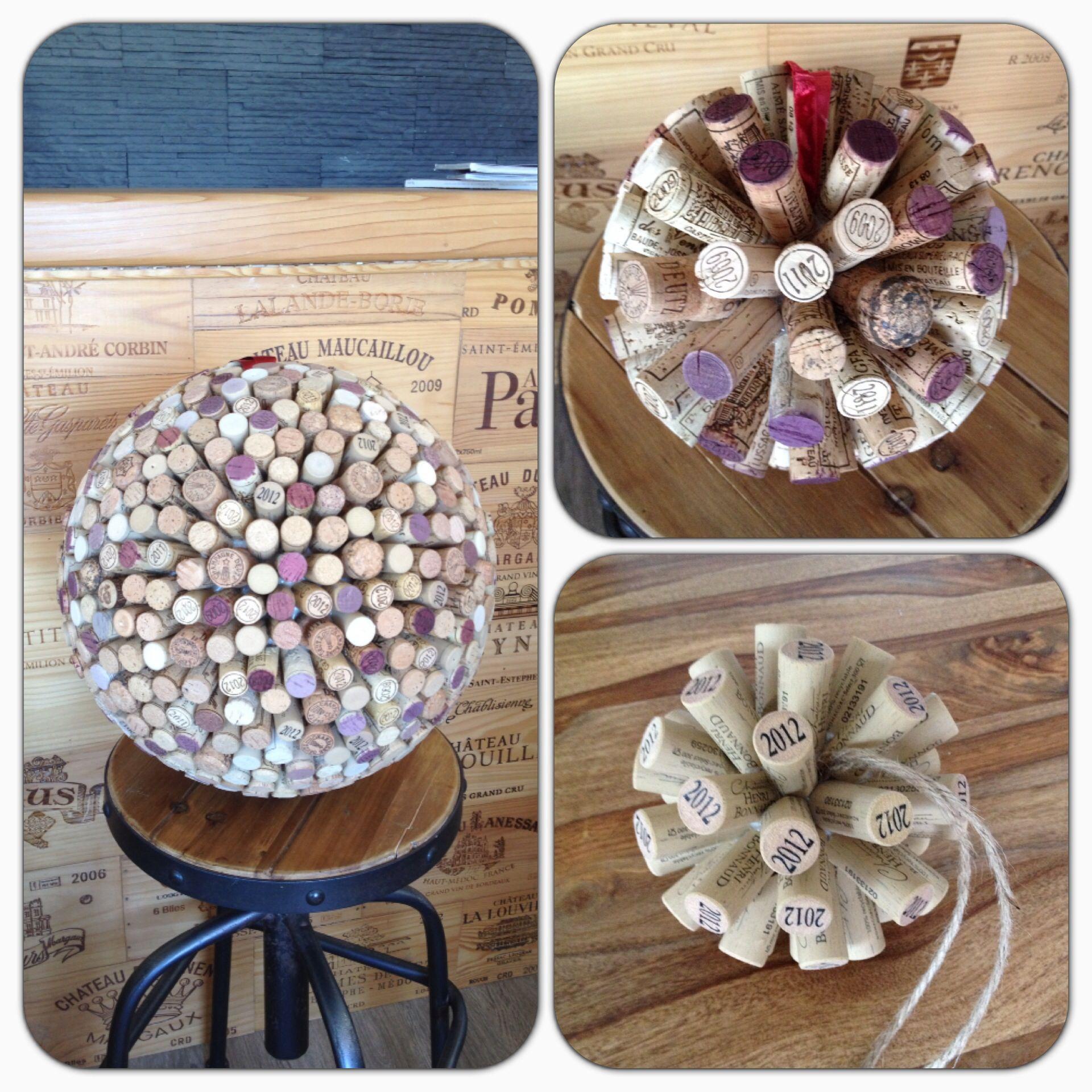 boules deco en bouchons mariage pinterest cork crafts wine cork crafts et bricolage. Black Bedroom Furniture Sets. Home Design Ideas