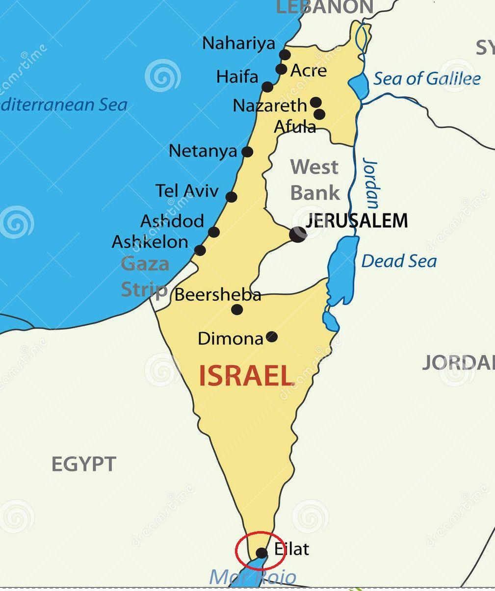 Ubicacin Geogrfica de Eilat Turismo en Eilat Israel Pinterest
