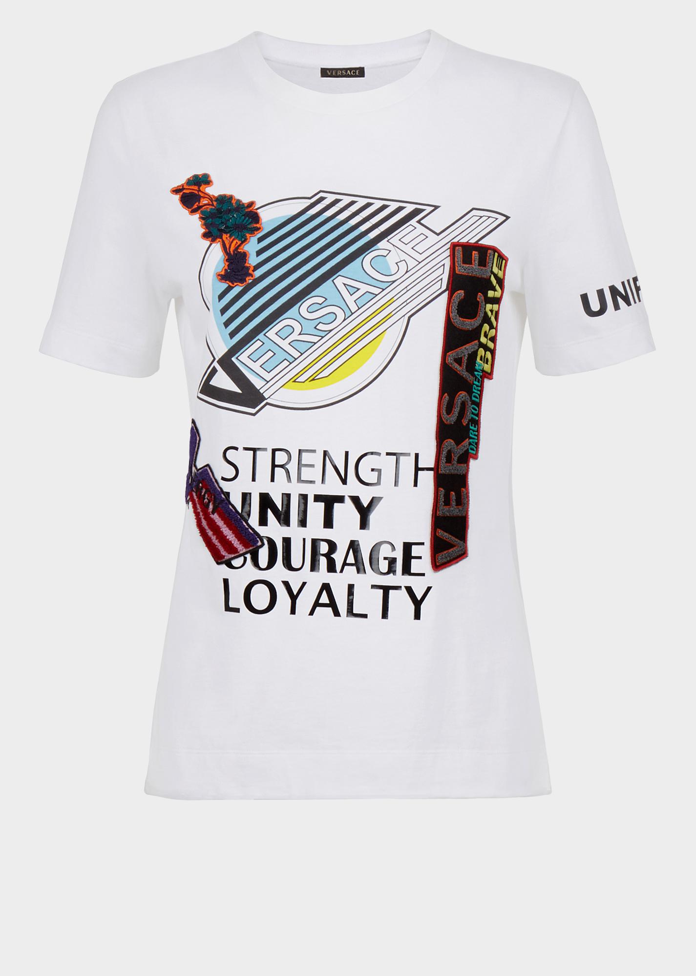 d96d3ef8 Versace Manifesto T-Shirt - Brilliant white T-shirts & Sweatshirts ...