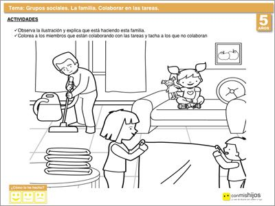 Ficha para aprender a colaborar en las tareas de casa. | Matemáticas ...