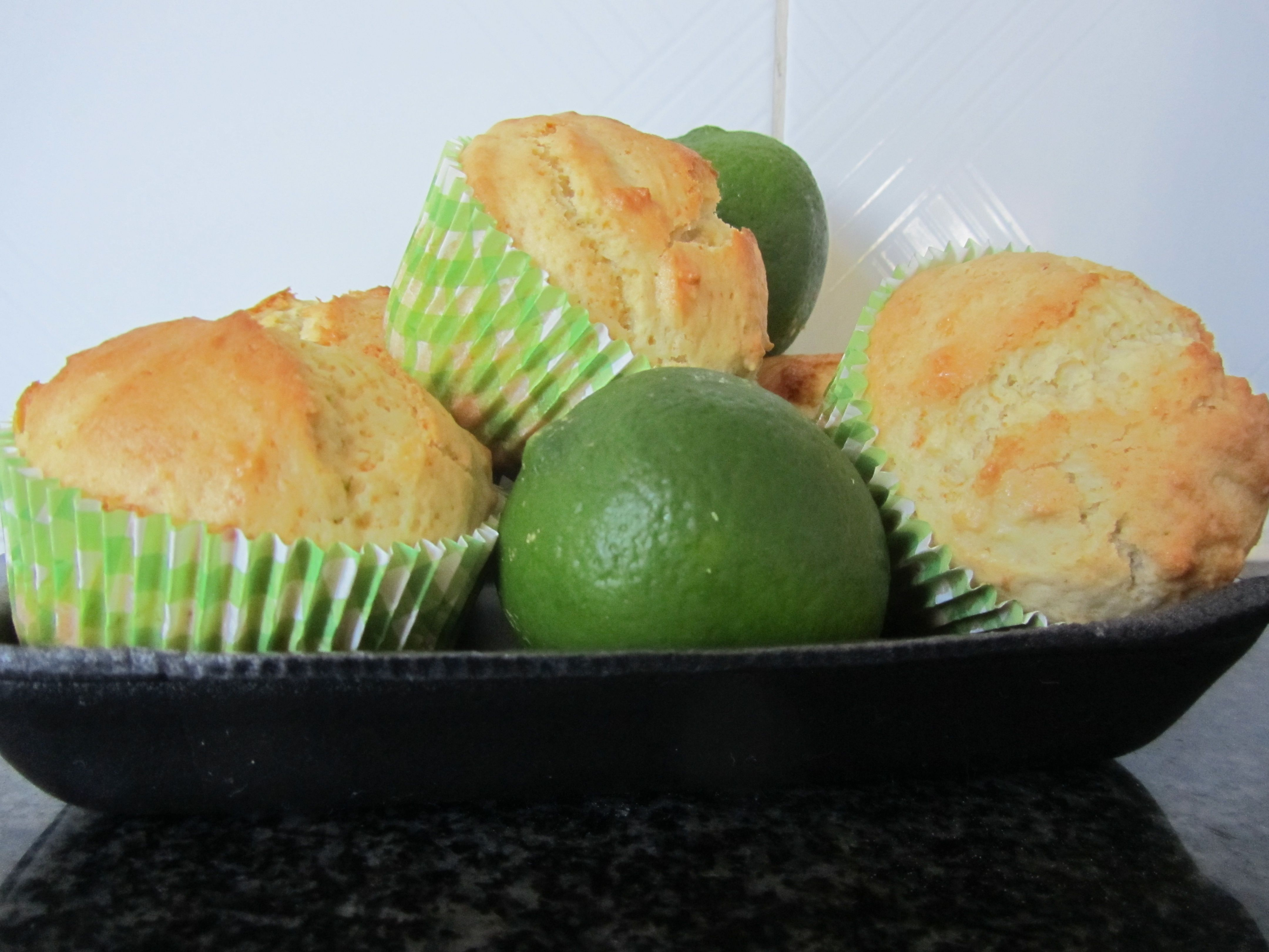 Homemade lime muffins !