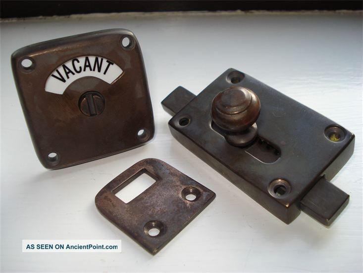 Antique Finish Vacant Engaged Toilet Bathroom Lock Bolt