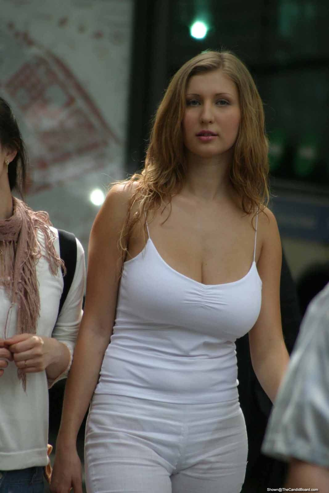 Candid pictures of huge breasts