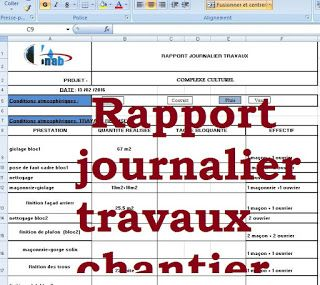 Exemple de rapport journalier des travaux chantier batiment en 2019 word doc construction for Cours de construction pdf