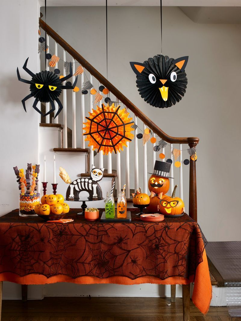 Kid Friendly Halloween Party Decor At Home Easy Diy Halloween Decorations Easy Halloween Decorations Pumpkin Halloween Decorations