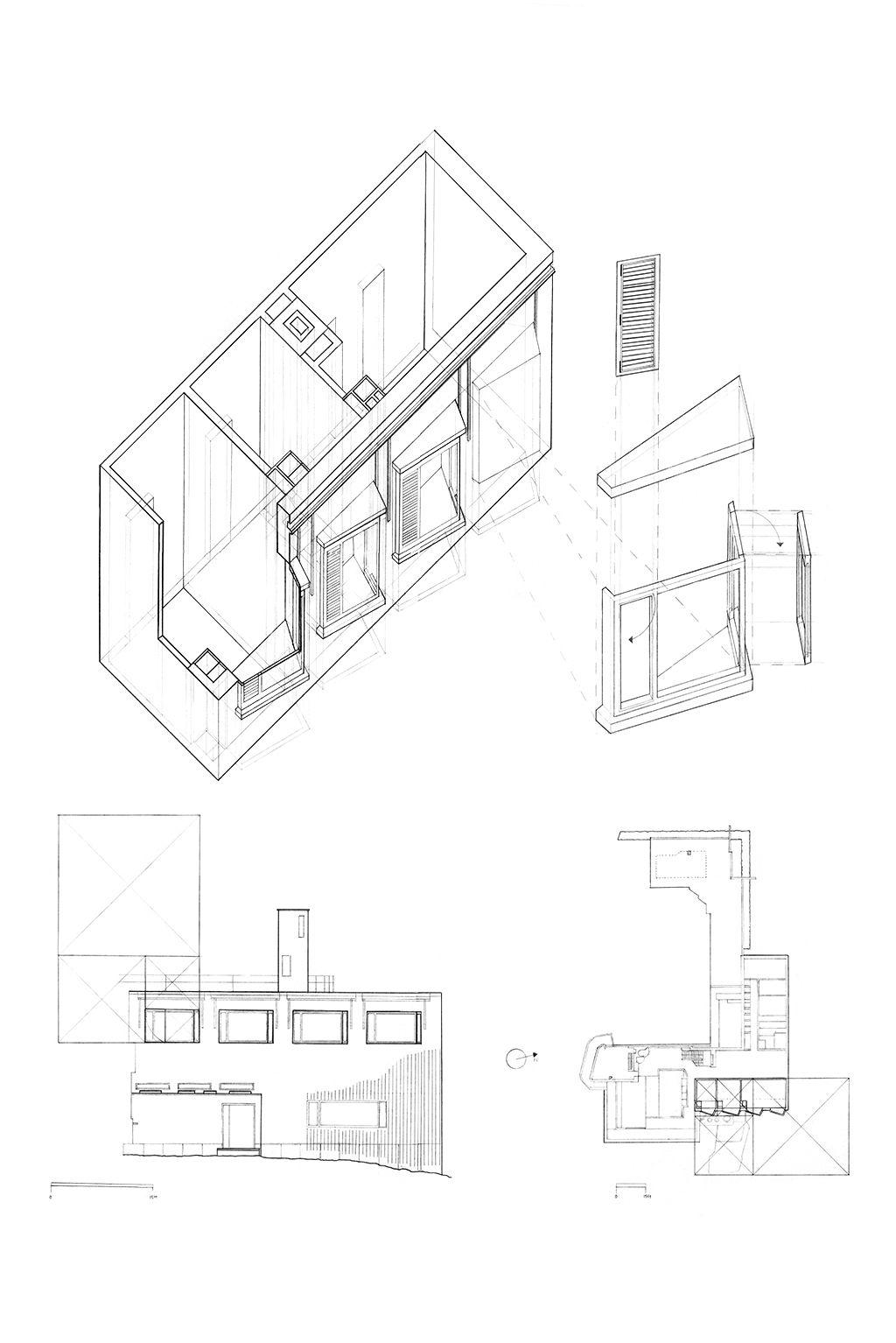 architectural design studio 1. villa mairea study  alvar aalto graphite architecture design studio 1 2005
