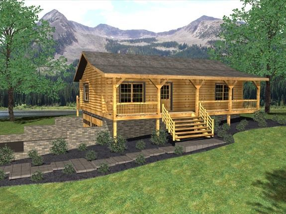 Small Home or Tiny Homes Log Cabins by Honest Abe Log Homes | Log ...
