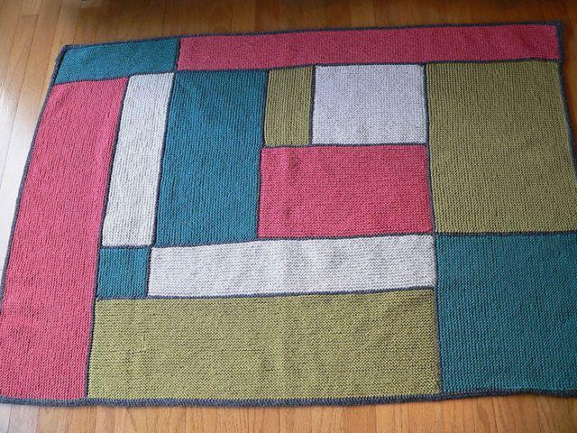 Ravelry nuts4knits 39 moderne log cabin baby blanket knit for Log cabin blanket