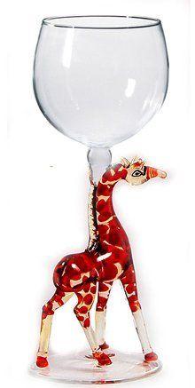 Giraffe Hand Made Wine Glass from Yurana Designs W272 by Yurana Designs. $35.00…
