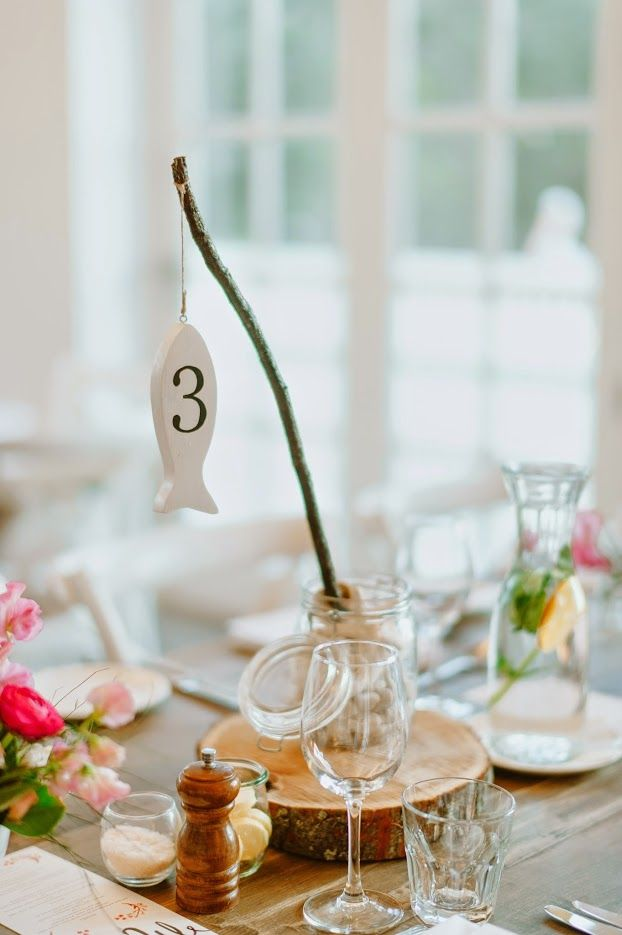 Cute Beach Theme Table Numbers Hand Painted Wooden Fish Purchased