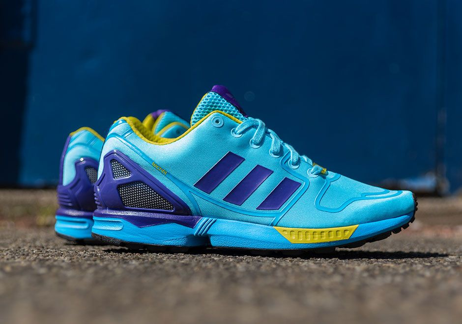The adidas ZX Flux Techfit Aqua is the latest version of the adidas ZX Flux  to receive the original Aqua color scheme. This adidas ZX Flux is now  available