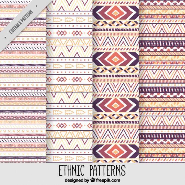 Geométricos patrones étnicos dibujados a mano Vector Gratis   Source ...
